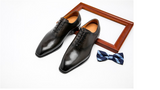 Men leather shoes business dress suit shoes men brand Bullock genuine leather black laces wedding mens 2020