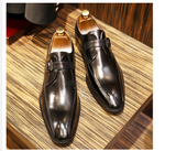 Men Genuine cow leather brogue wedding Business mens casual flats shoes 2020 black vintage oxford shoes for men's shoes
