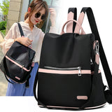 2020 Casual Oxford Backpack Women Black Waterproof Nylon School Bags for Teenage Girls High Quality Fashion Travel Tote Packbag
