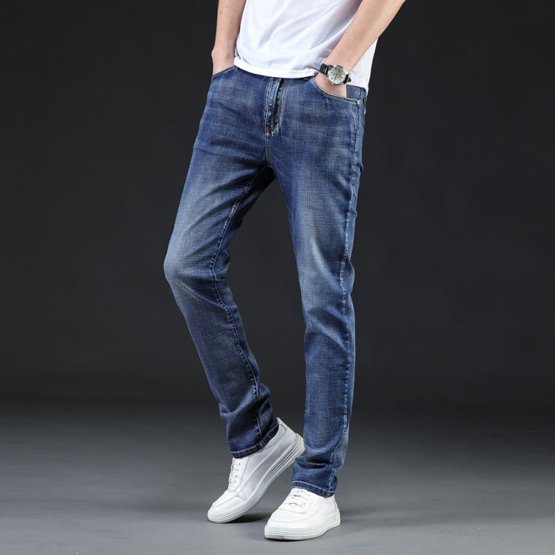 2020  Men Classic Fashion Men Jeans8 Colors Style Slim Fit Ripped Jeans Homme Brand Jeans Men Cotton  Plus Size 40 42 44 46