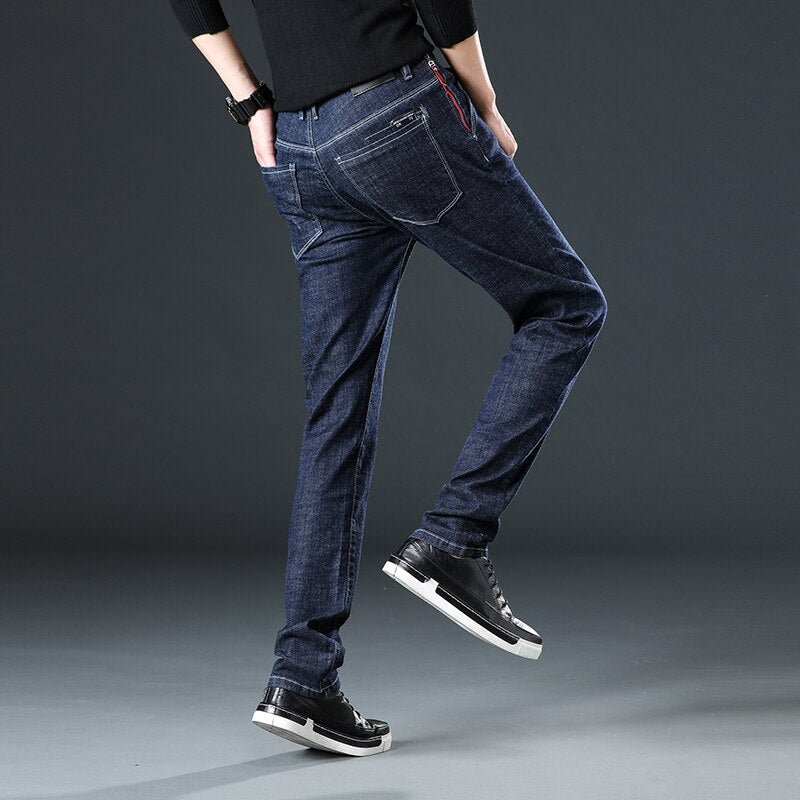 2020 Men's Casual Spring Summer Cotton Slim fit Jeans New Fashion Casual Men Gary Straight Pants male