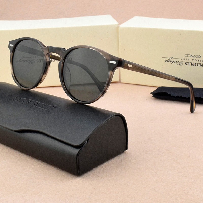 2020 Round Polarized Sunglasses Women Retro Luxury Brand Designer Vintage Sun Glasses Classic Driver's sunglasses for men OV5186