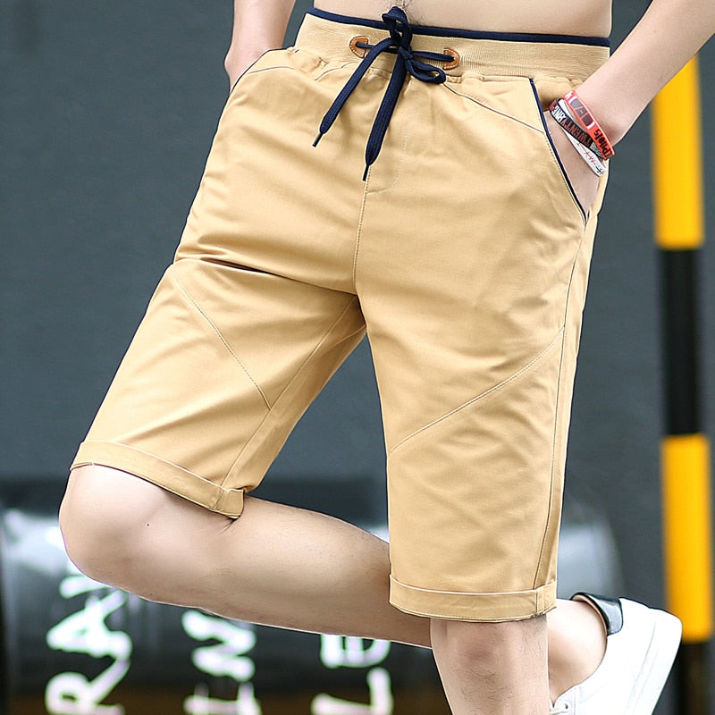 2020 Solid Color Men Shorts New Summer Fashion Mens Beach Shorts Cotton Casual Male Shorts Brand Clothing