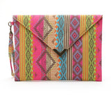 2020 vintage evenlope clutch bag Bolsa Feminina new canvas day clutches fashion women bolso mujer bags striped