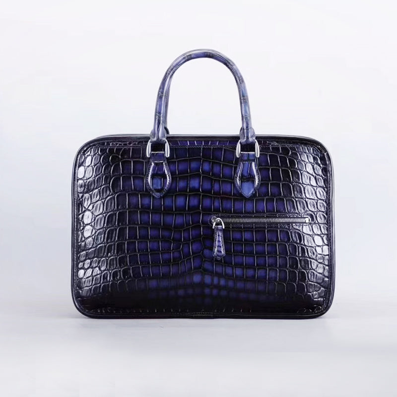 Royal Crocodile Briefcase- Royal Anvil