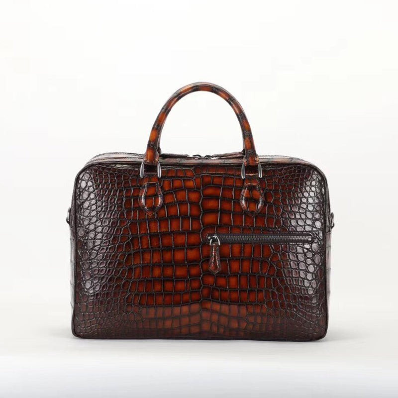 Royal Crocodile Briefcase Double- Royal Anvil