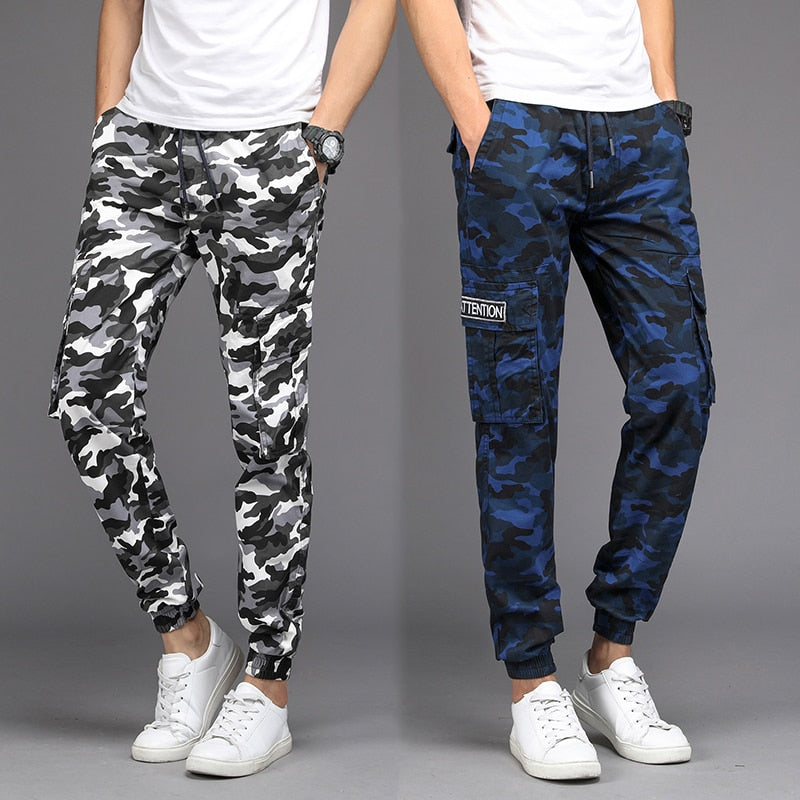 Cargo Pants Men Camouflage Harem Joggers Men's Causal Hip Hop Trousers Drawstring Sweatpants
