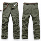 Cargo Pants Men Combat Army Military Pants 100% Cotton, Multi-Pockets Flexible Man Casual Trousers Overalls