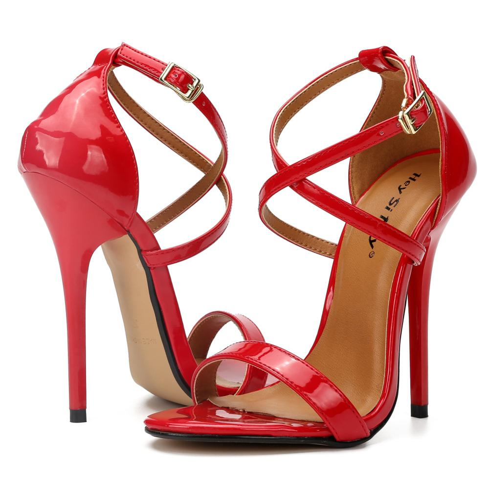 Fashion High Heels Sandals Women Cross Strap Wedding Fetish Shoes,Summer Sandal