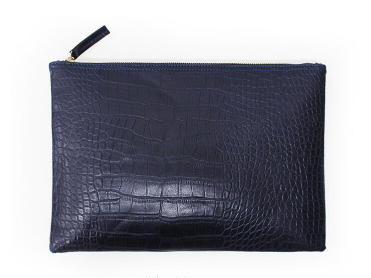 Fashion clutch bag female Clutches pouch bag crocodile grain women's clutch bag leather women envelope bag free shipping