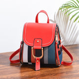 2020 Leather Women Backpack Bag for Girls Teenage Shoulder School Bag Multi-use Daypack Knapsack Hand Bag Crossbody