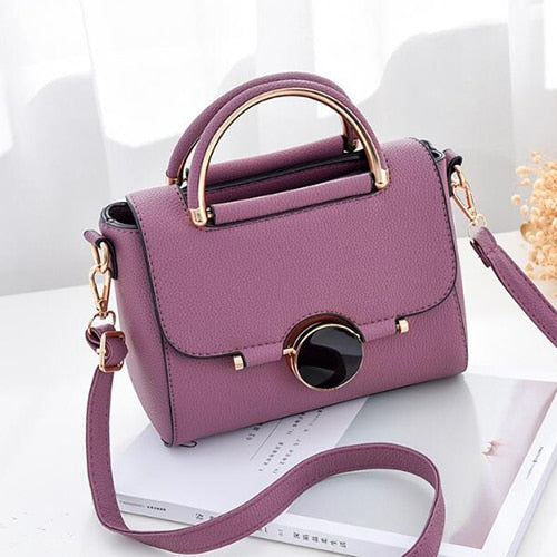 Mini Ladies Messenger Bag Leather Flap Shoulder Bags for Women Crossbody Bag Tote Sweet Candy Color Small Handbags