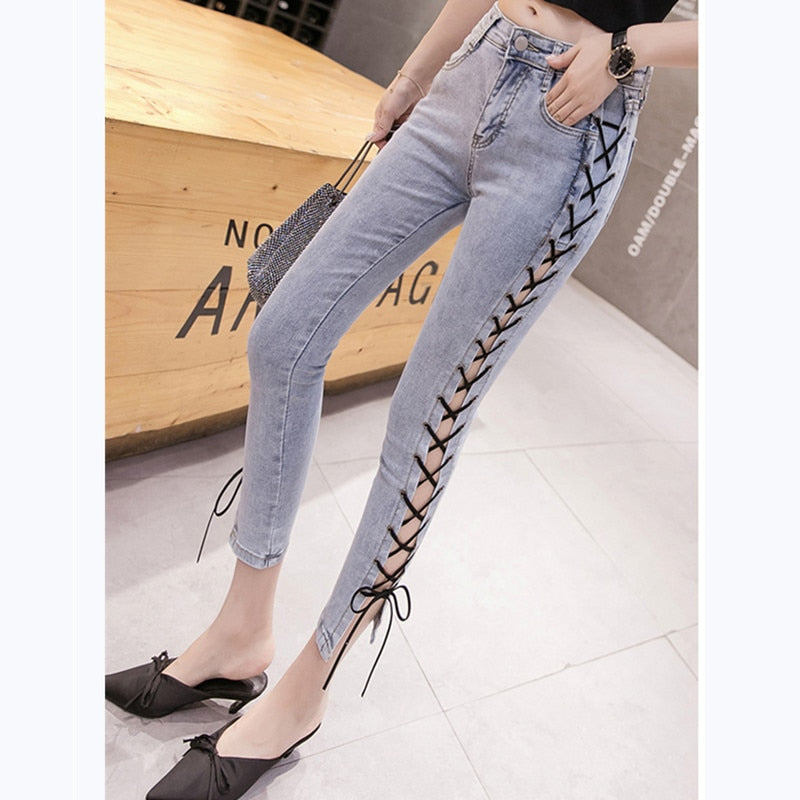 Royal Anvil 2019 Women Plus Size Leggings High Waisted Workout Bandage Pocket Leggins Skinny Casual Female Jeans 6620