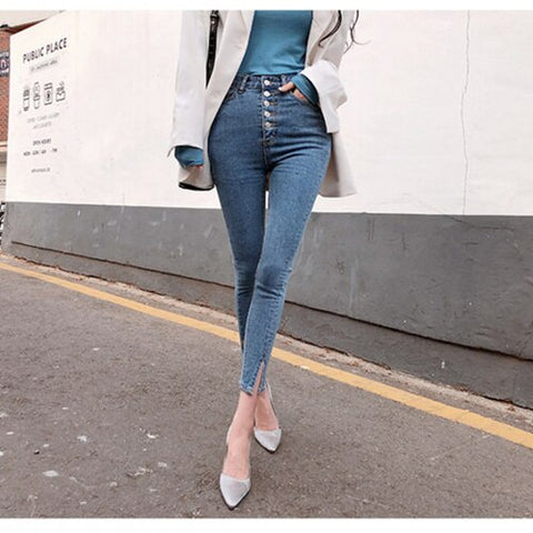 Royal Anvil Women Push Up Jeans Skinny Button Zipper Clothing New Fashion Sexy Female Summer Autumn Winter Jeans Pencil Pants 7377