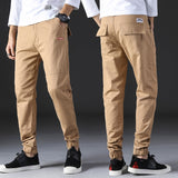 Casual Mens Pants Slim Fit Casual Pants Sweatpants Joggers Solid Gray Khaki Men Trousers