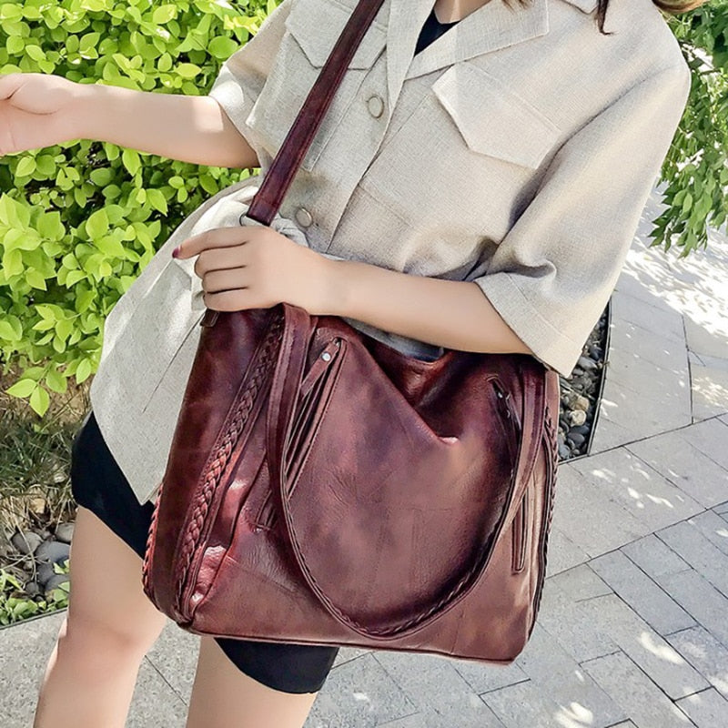 Ladies Soft Leather Handbag High Quality Women's Shoulder Bag Luxury Handbags Crossbody Bags For Women