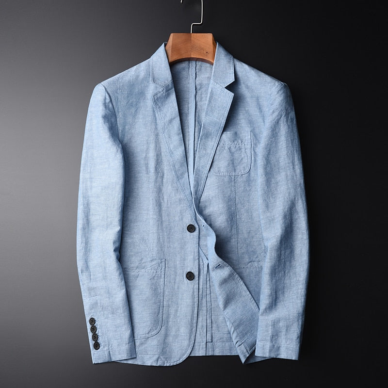 Blazer Linen Suit,Jacket Autumn Casual Mianma Male