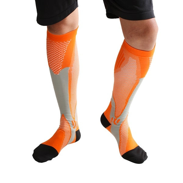 Men & Women Leg Support Breathable Stretch Compression Socks Below Knee Socks Fit Shin Splints Flight Travel Sport