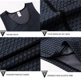 Men's Workout Tights Compression T Shirt Running Tights Quick Dry Gym Clothing Fitness Workout Vest Jogging Sportswear Tank Tops