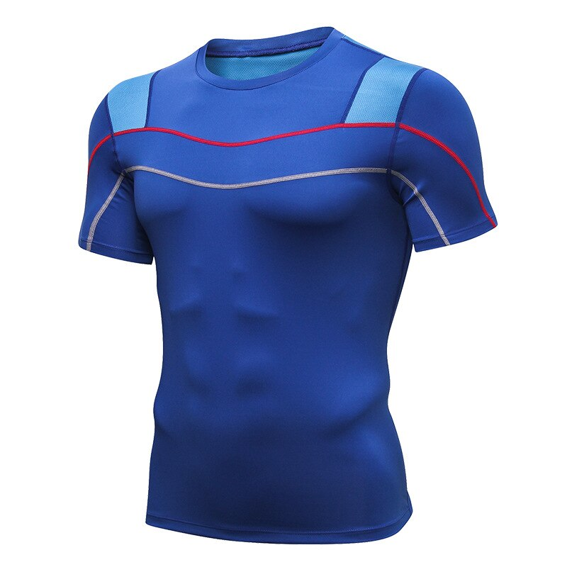 Mens Reflective Running Shirts Compression Sports T shirt Training Undershirt Bodybuilding Sportswear Quick Dry Fitness Clothing