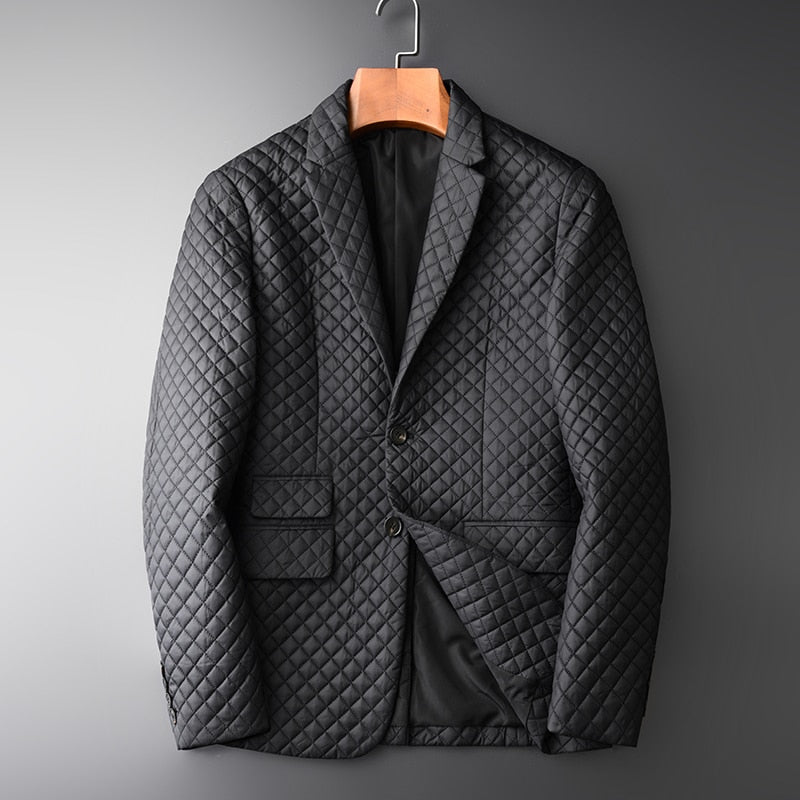 Blazer Male Hight Quality Add Padding Black Casual Blazer Fashion Blazer Masculino