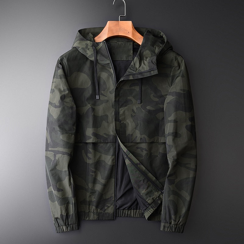 Hooded Mens Jackets Luxury Camouflage Outdoor Sports Mens Jackets And Coats