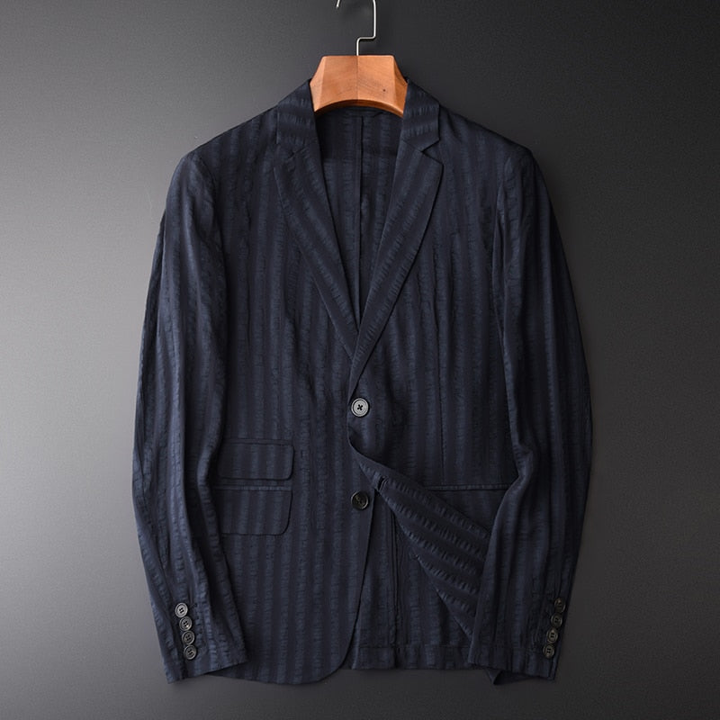 Linen Male Blazer Spring And Autumn, Thin Slim, Business Blazer