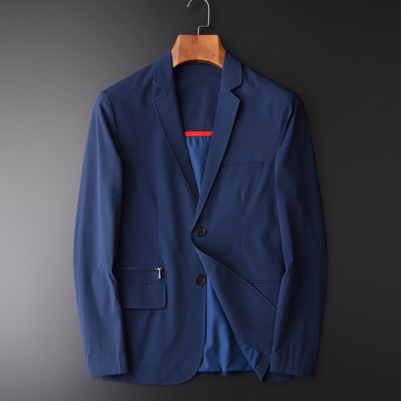 Men Blazer Fashion Silky Suit Blazer,Slim Fit, Masculine Blazer Casual
