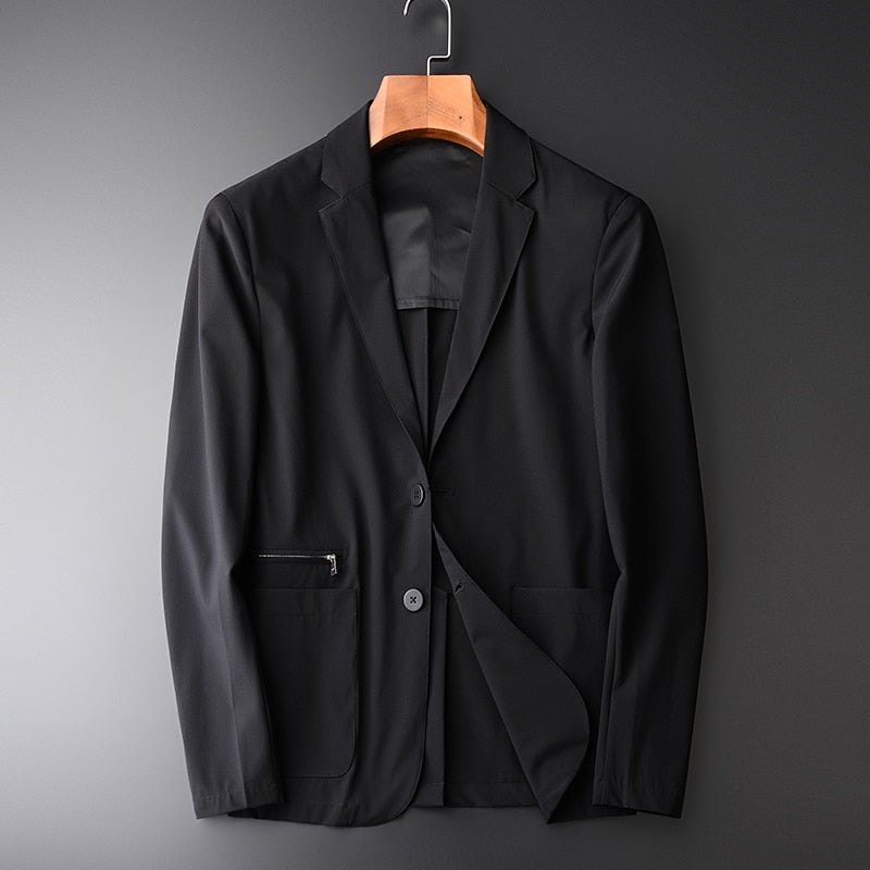 Spring Men's Casual Blazer Suit Classic Collar Business Blazer
