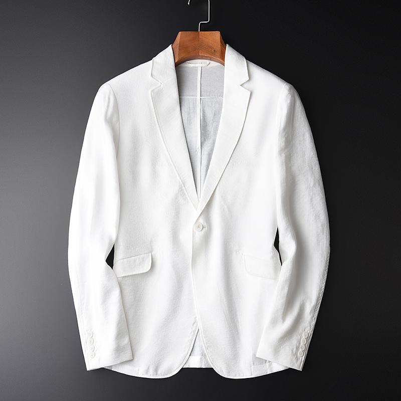 Luxury Silky Thin Comfort Mens Blazer Single Breaste
