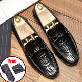 Men Leather Summer Casual Shoes Male Sneakers loafer Mens Slip On Coffee Men's Genuine Leather Loafers Driving Shoes