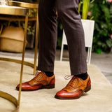 Men formal shoes Genuine leather Brogues  oxford shoes for men dressing wedding men's office shoes lace up male shoes