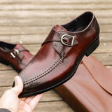 mens formal shoes genuine leather oxford shoes for men black 2020 dress wedding business buckle leather brogues shoes