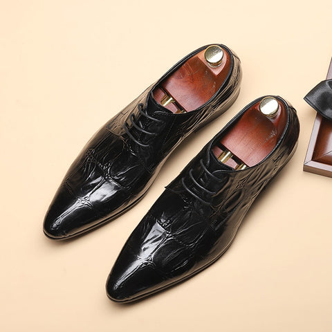 mens formal shoes genuine leather oxford shoes for men black 2020 dress wedding business laces leather brogues shoes