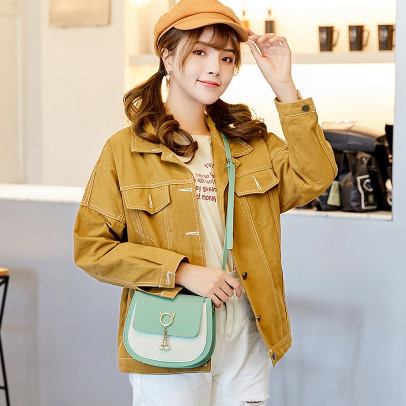 Round Mini Handbags For Women PU Leather Small Ladies Lock Shoulder Bags Saddle Buckle Flap Bag Girls Mini Crossbody Bags