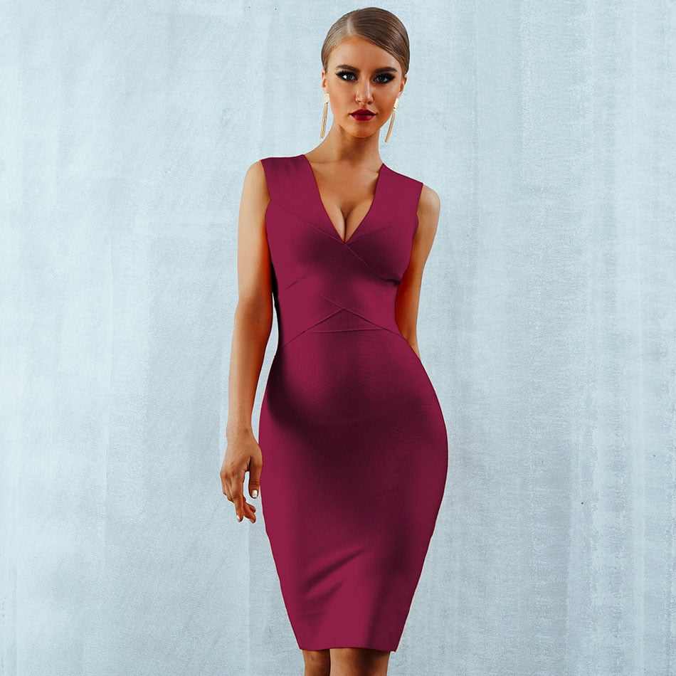 Sexy Dress Club Wear Party Dress,New Arrivals Sleeveless Orange Wine Red Women Bandage Dresses.