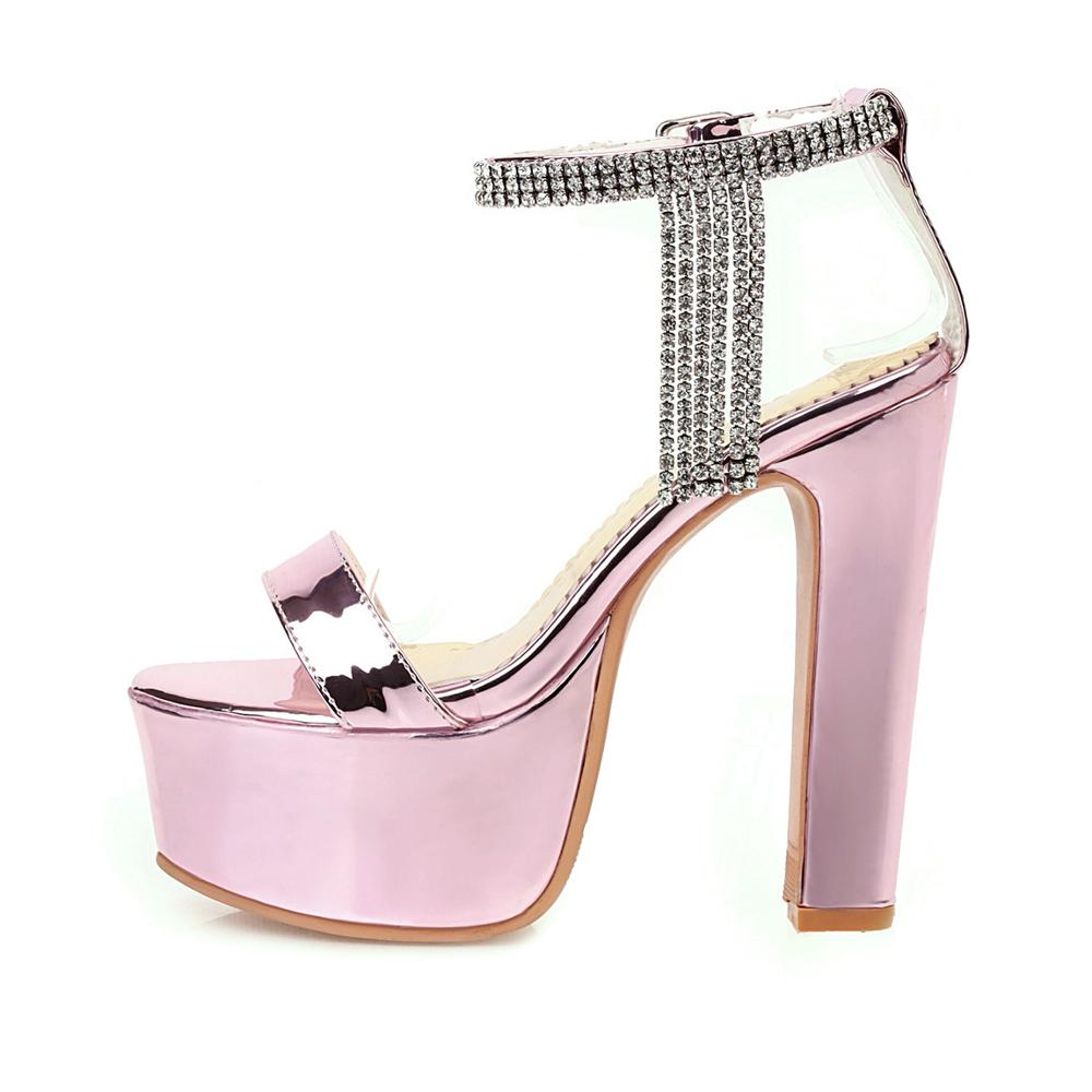 New Sandals Women,High Heels Summer Shoes Woman Sandals,Luxury Stripper Heels Shoes Female