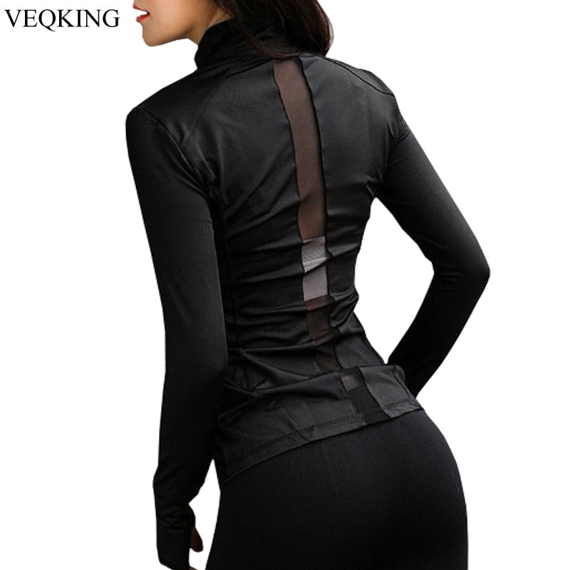 Running Jacket ,Women Sport Jacket ,Women Long Sleeve Yoga shirt