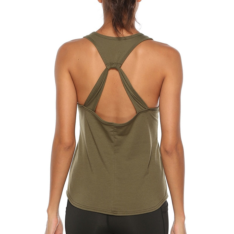 Sexy Backless, Sleeveless Yoga Vest Shirt For Women
