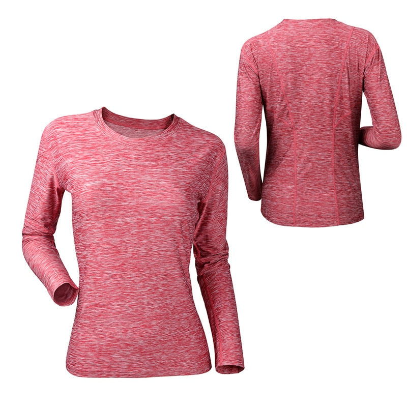 Women Long Sleeve Yoga Shirt,Segment Dyein, Workout Sport Shirt,Compression Running Gym T-shirts Fitness Top
