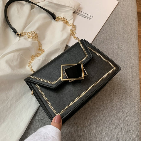 Vintage Crossbody Bags For Women 2020 PU Leather Handbag and Purse Chain Shoulder Messenger Bag Ladies Phone Pouch Bags Bolsas