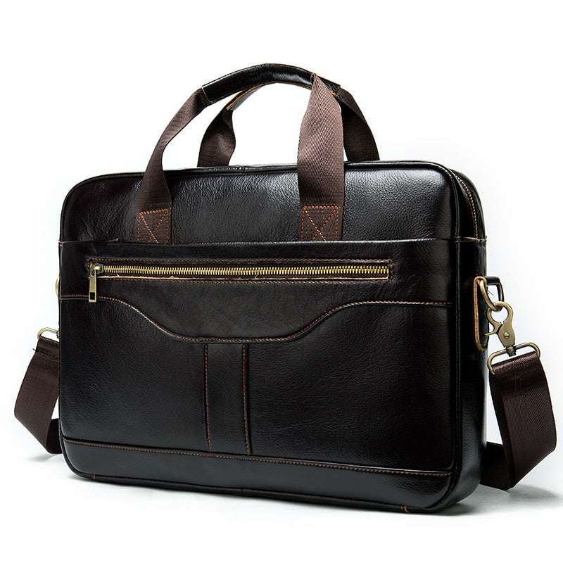 Men briefcase/men's genuine leather laptop bags office bags for men bussiness design bag men leather tote