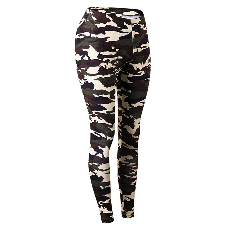 Women Camouflage Pants High Waist Sports Trousers Skinny Sexy Fitness Tight Quick Dry Leggings Female Compression Running Pants