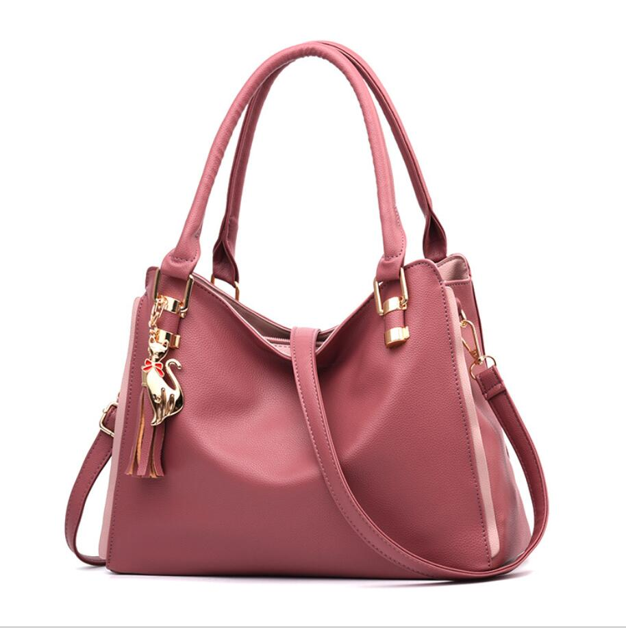 2020 New Tide Female Top-handle Bag Girls Simple Shoulder Bags Women Handbags for Lady Totes Fashion Party Pack