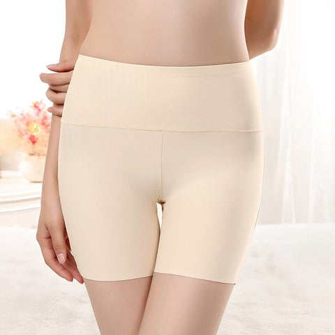 Women Safety Shorts Pants Seamless Nylon High Waist Panties Seamless Anti Emptied Boyshorts Pants Girls Slimming Underwear
