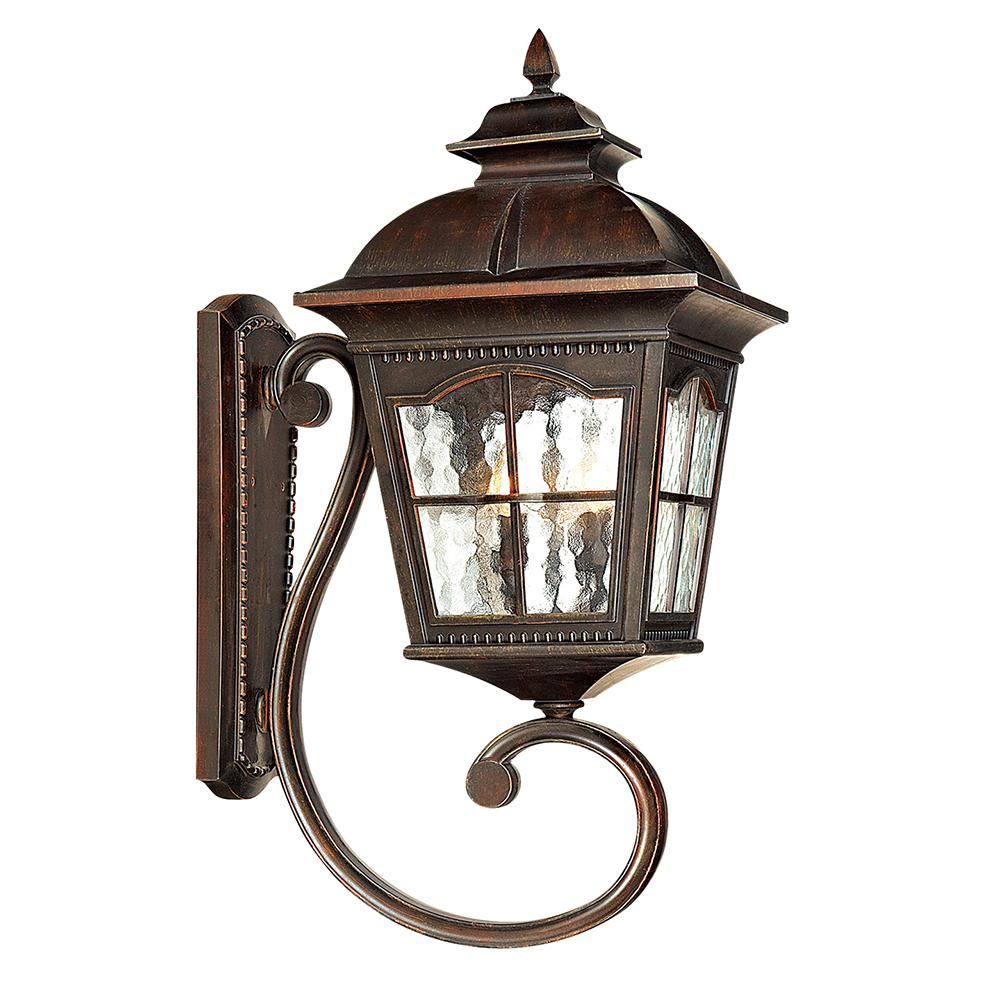1 Light Large Brown Uplight Outdoor Wall Lantern Light Vintage Style - Bonnypack