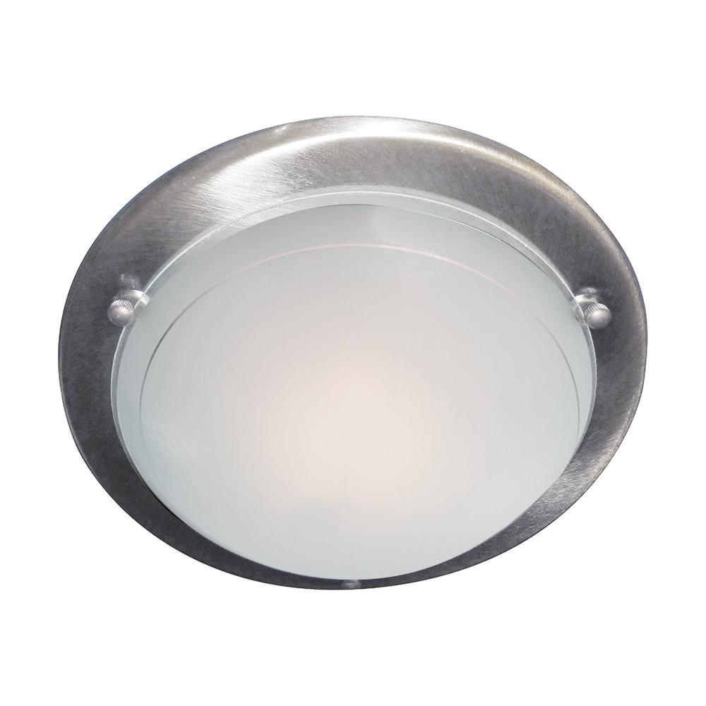 12in Silver Modern Metal Glass Flush Fitting Ceiling Recessed Light - Bonnypack