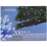 200 Blue Chaser Ultra Bright LED Christmas Lights - Bonnypack