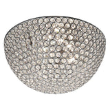 35cm Dia 3 Lights Crystal Buttons Chrome Flush Ceiling Chandelier - Bonnypack