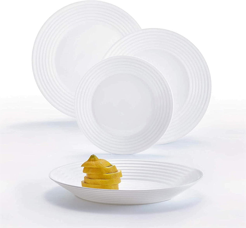 Luminarc Harena 18 Piece White Opal Dinner Set